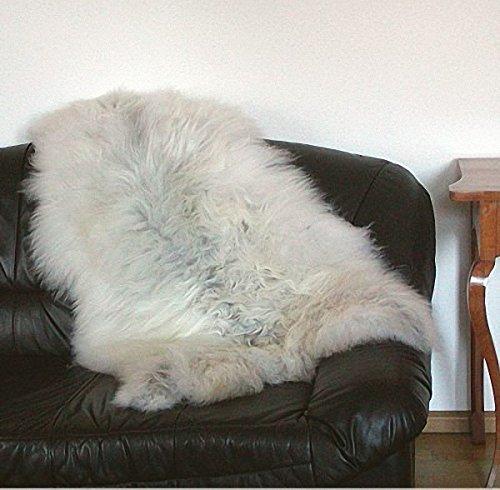 HEITMANN grote knuffelige Noorlandse schapenvacht wit gemêleerd, haarlengte ca. 15 cm, ca. 120 cm.