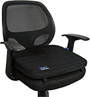Sojoy Wedge Seat Cushion for Car Seat Office Chair with U-cut for Tailbone Pain Back Coccyx Orthopedic Support Pad