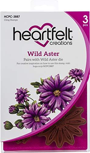 Heartfelt Creations Cling Rubbr Stmp Set Wild Aster