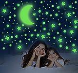 Adesivi da Parete Fluorescenti, 581 pezzi Stickers di Stelle e Luna, Autoadesivo Luminoso ...