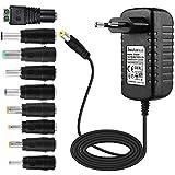 EFISH Adaptateur Secteur Portable Portable 12V 2A 24W,CA 100-240V à 12V pour...