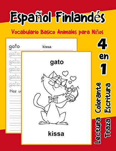 Español Finlandés Vocabulario Basico Animales para Niños: Vocabulario en Espanol Finlandes de preescolar kínder primer Segundo Tercero grado: 9 (Vocabulario animales para niños en español)