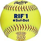 Rawlings Official ASA RIF Soft-Dot Fastpitch Softball, 12 Count, SR11RYSA