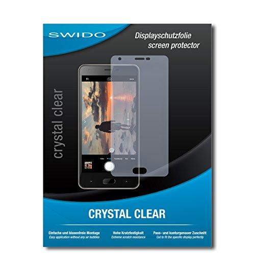 SWIDO Schutzfolie für Doogee X20L [2 Stück] Kristall-Klar, Hoher Festigkeitgrad, Schutz vor Öl, Staub & Kratzer/Glasfolie, Bildschirmschutz, Bildschirmschutzfolie, Panzerglas-Folie