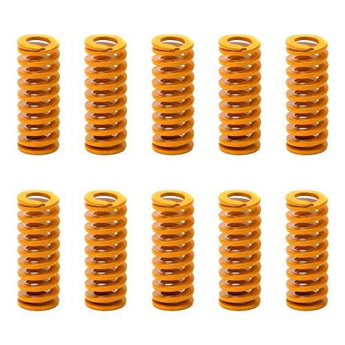 3D Printer Springs Accessory Heating Bed Motherboard Compression Bottom Connection Leveling Orange 10PCS