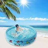 NAWXC Aufblasbarer Runder Babypool, PVC-sichere Aufblasbare Sommerbadewanne, Interaction Summer Water Party Lounge-Pool Für Kinder Erwachsene