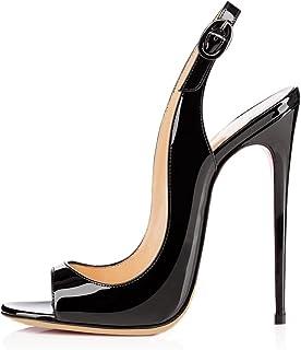 bc6c54b3fa0a8a elashe Femmes Artisan Fashion Sandales Décolletés Bout Ouverts Chaussures à Talon  Haut de 120mm