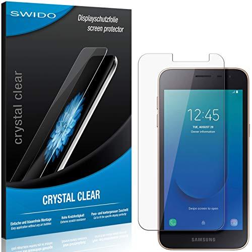 SWIDO Schutzfolie für Samsung Galaxy J2 Core [2 Stück] Kristall-Klar, Hoher Festigkeitgrad, Schutz vor Öl, Staub & Kratzer/Glasfolie, Bildschirmschutz, Bildschirmschutzfolie, Panzerglas-Folie