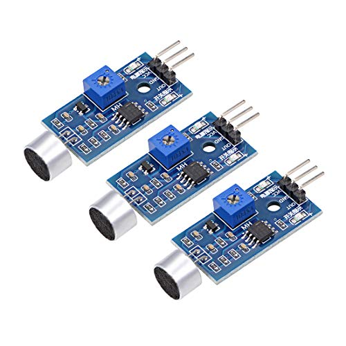sourcing map Microphone Sound Sensor Voice Detection Module with DO for Arduino AVR PIC 3pcs
