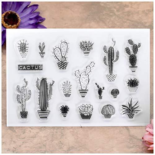 KWELLAM - Sellos transparentes de cactus para hacer tarjetas, decoración y álbumes de recortes