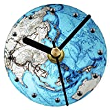 DRADUO Earth Pattern Clock, Magnetic Sticky Clock, Luminous Earth Wall Clock, Refrigerator Tile Clock, Magnetic Home Kitchen Office Wall Clock, Beautiful Blue Planet Fashion Creative