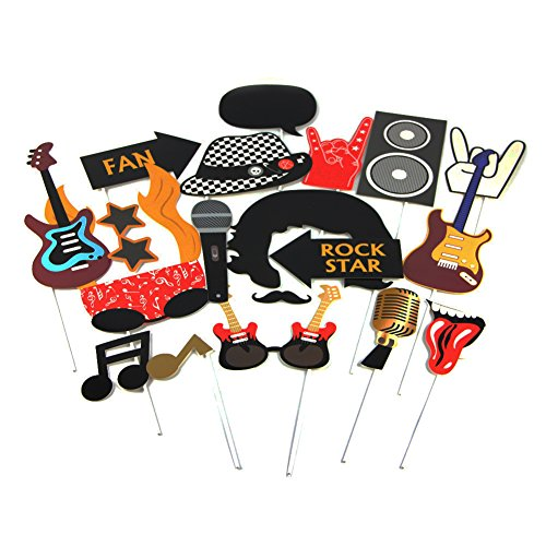 SUNBEAUTY Rock 'n' Roll Klassische Photo Booth Props Fotorequisiten