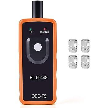 Funkprofi RDKS Anlernsystem Reifenventilaktivator TPMS-Reifendrucksensor Reifendruck Kontrollsysteme EL-50448 f/ür OPEL GM mit 4 x Gasventilkappen Orange