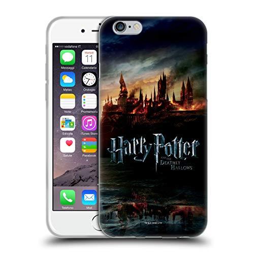 Head Case Designs Offizielle Harry Potter Burg Deathly Hallows VIII Soft Gel Huelle kompatibel mit Apple iPhone 6 / iPhone 6s