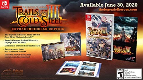 The Legend of Heroes Trails of Cold Steel III Extracurricular Edition Nintendo Switch product image