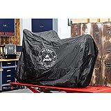 Polo Motorradabdeckung Motorradplane Motorradgarage Outdoor Abdeckplane We Care for Your Ride Uni 246/140/93 cm, Unisex, Multipurpose, Ganzjährig, schwarz
