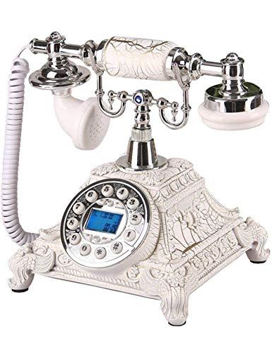 FHISD Teléfono Retro Vintage, Estilo Antiguo, con Cable/Vintage, teléfono Fijo con botón pulsador para decoración del hogar y la Oficina, teléfonos con Marcador de Escritorio clásico