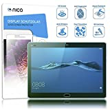 NALIA Schutzglas kompatibel mit Huawei MediaPad M3 Lite, Full-Cover Bildschirmschutz Tablet-Folie, 9H Glas-Schutzfolie Display-Abdeckung, Schutz-Film HD Screen Protector Tempered Glass - Transparent