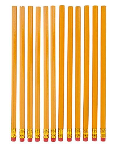 12 Bleistifte mit Radierer / Härtegrad: HB