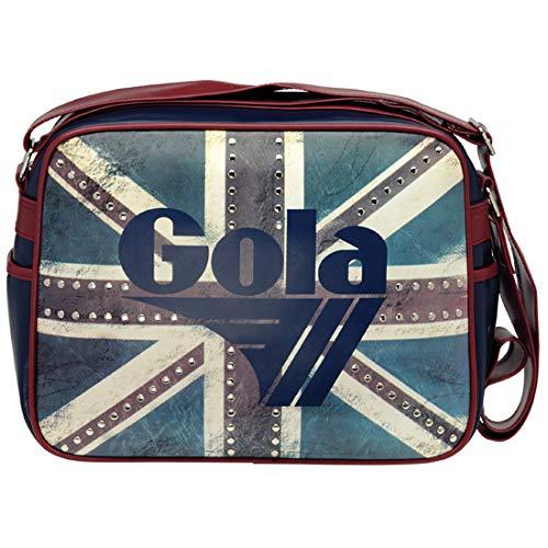 GOLA Borsa Tracolla Redford Heritage UJ Stud CUB078 Bandiera Inglese con Borchie