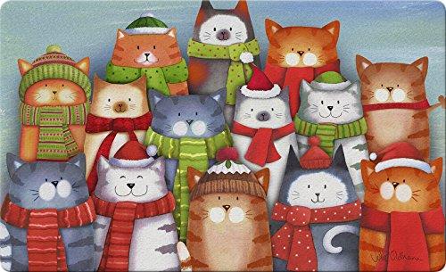 Toland Home Garden Cat Carolling décoratifs Paillasson, mignon de Noël Chatons