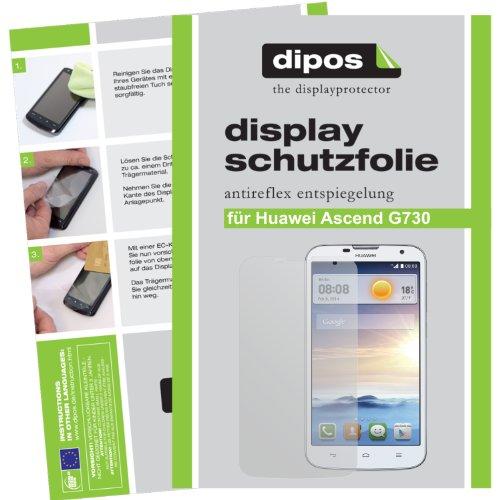 dipos I 2X Schutzfolie matt kompatibel mit Huawei Ascend G730 Folie Bildschirmschutzfolie