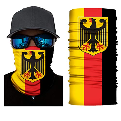 Black Roses Multifunktionstuch Herren & Damen - Wind Face Shield [Germany]