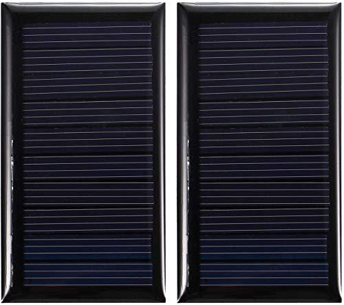 Cacoffay Solaire Chargeur 5,5 V Solaire Panneau Camping Voyage Chargeur Polycristallin Silicium Solaire Cellule Pour Batterie Jouets Lumière Lampe Ventilateur Pompe,5 PCS
