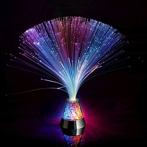 XIANGYANG Fibre Optic Light Ice Star Light Novelty Lamps Colorful Gypsophila Color Changing Crystal Base Relaxing Night Decoration for Home Party