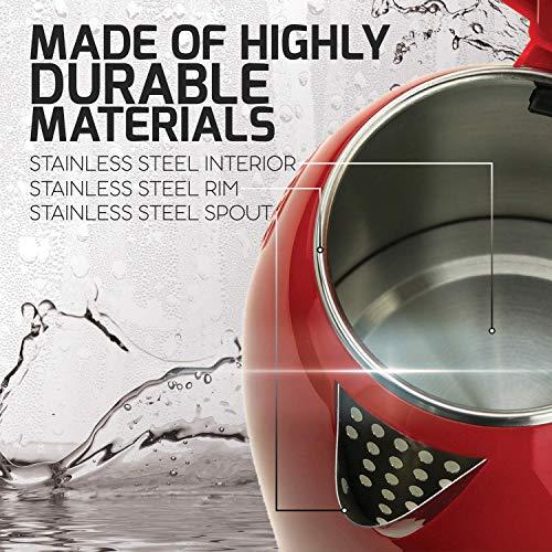 La' Forte Electric Kettle (EKLF001R) 1.8 Ltr Double Wall 100% Food Grade 304 Stainless Steel Kettle