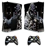 Designer Skin Sticker for Xbox 360 Slim Console with Two Wireless Controller Decals Call of Duty Ghost