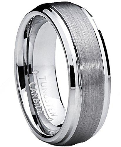 Ultimate Metals 7MM Fede nuziale in tungsteno da uomo - anello di fidanzamento in tungsteno con finitura satinata