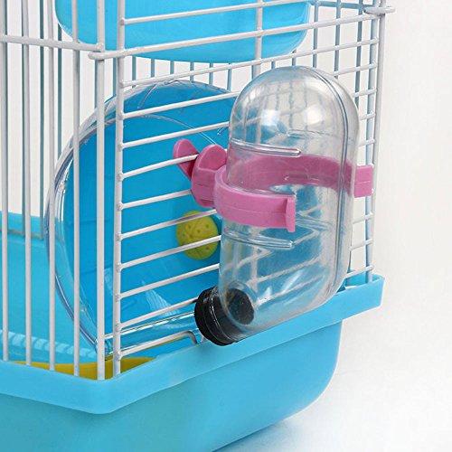 Skyoo geen druppel kleine dier waterfles huisdier/konijn/fret/hamster/kleine Guinea varken beste aquarius speelgoed hond fles automatische wateropname, free size, Rood