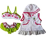 Swimsuit & Coverup Outfit Teddy Bear Clothes Fits Most 14' - 18' Build-a-bear and Make Your Own Stuffed Animals