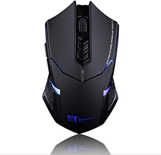 EiioX Wireless Mouse, 2.4G USB Bluetooth Gaming Mouse & Office Ergonomic Mice with 7 Quiet Click Buttons, 5 Adjustable DPI...