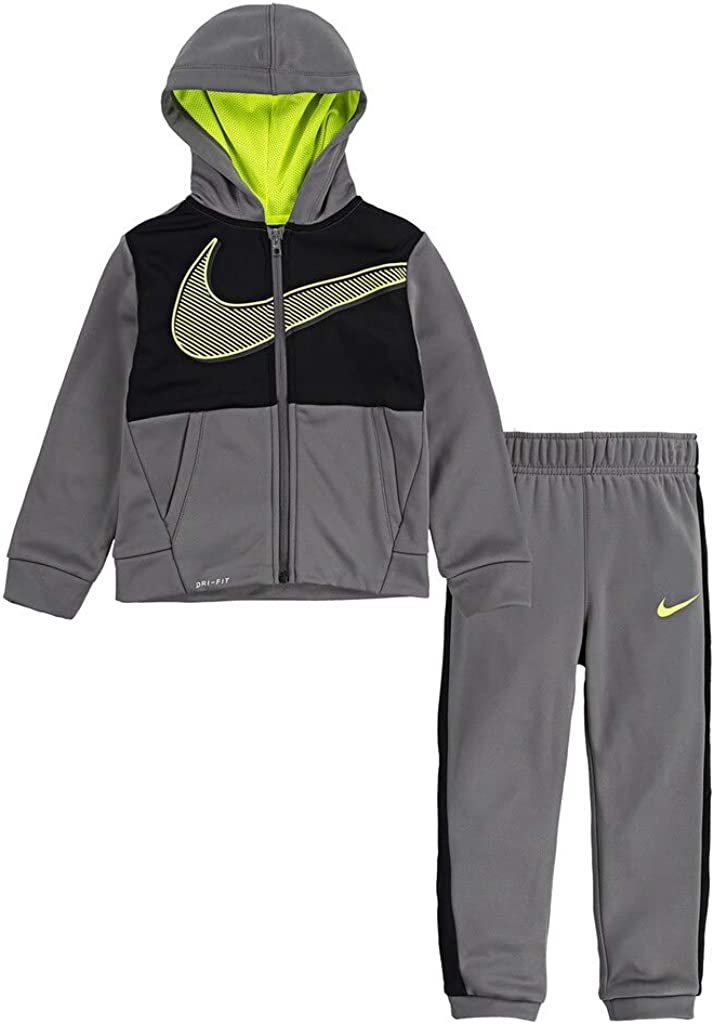Nike Kids Baby Boy's Therma-FIT Color-Block Full Zip Hoodie and Jogger Pants Two-Piece Set (Toddler)