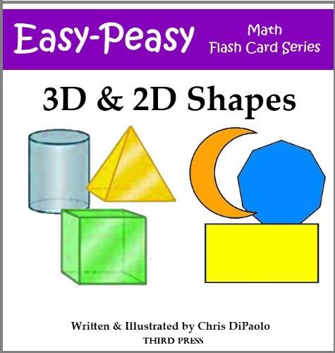 3D & 2D Shape Flash Cards (Easy-Peasy Math Flash Card Series) (English Edition)