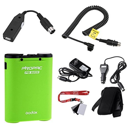 FOMITO Godox PB820S 2000mAh Portable Extended Flash Power Battery Pack Kit for Canon 600EX, 430EZ, 540EZ, 550EX,580EX, 580EX II for AD180 AD360-Green
