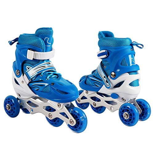 Best Goods Kinder Inline Skates Triskates/Rollschuhe Princess (Blau, M)