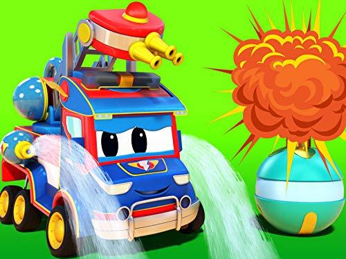 Weihnachten: Weihnachtsbaum und Feuerwehrauto / Weihnachten : Geschenke regnen auf Car City / Presslufthammer & Baumaschinen / Feuer, Rakete und Flugzeug