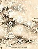 Kalender 2020: Terminkalender mit Uhrzeit von 7:00 bis 20:00 Uhr im viertel Stunden Takt | 1 Tag auf 1 Seite | viel Platz zum planen , notieren und organisieren | Vintage Marmor