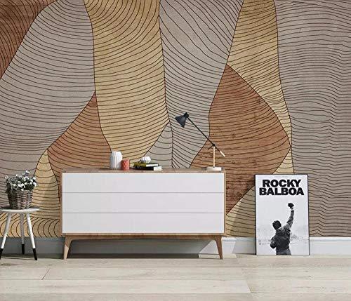FHOMEY Tapete Wandbild 3D Hauptdekoration Hand Gezeichnete Abstrakte Retro Geometrische Quadratische Tapete Wohnzimmer Tv Hintergrund Tapete Wandbild Wandverkleidung-200 * 140Cm