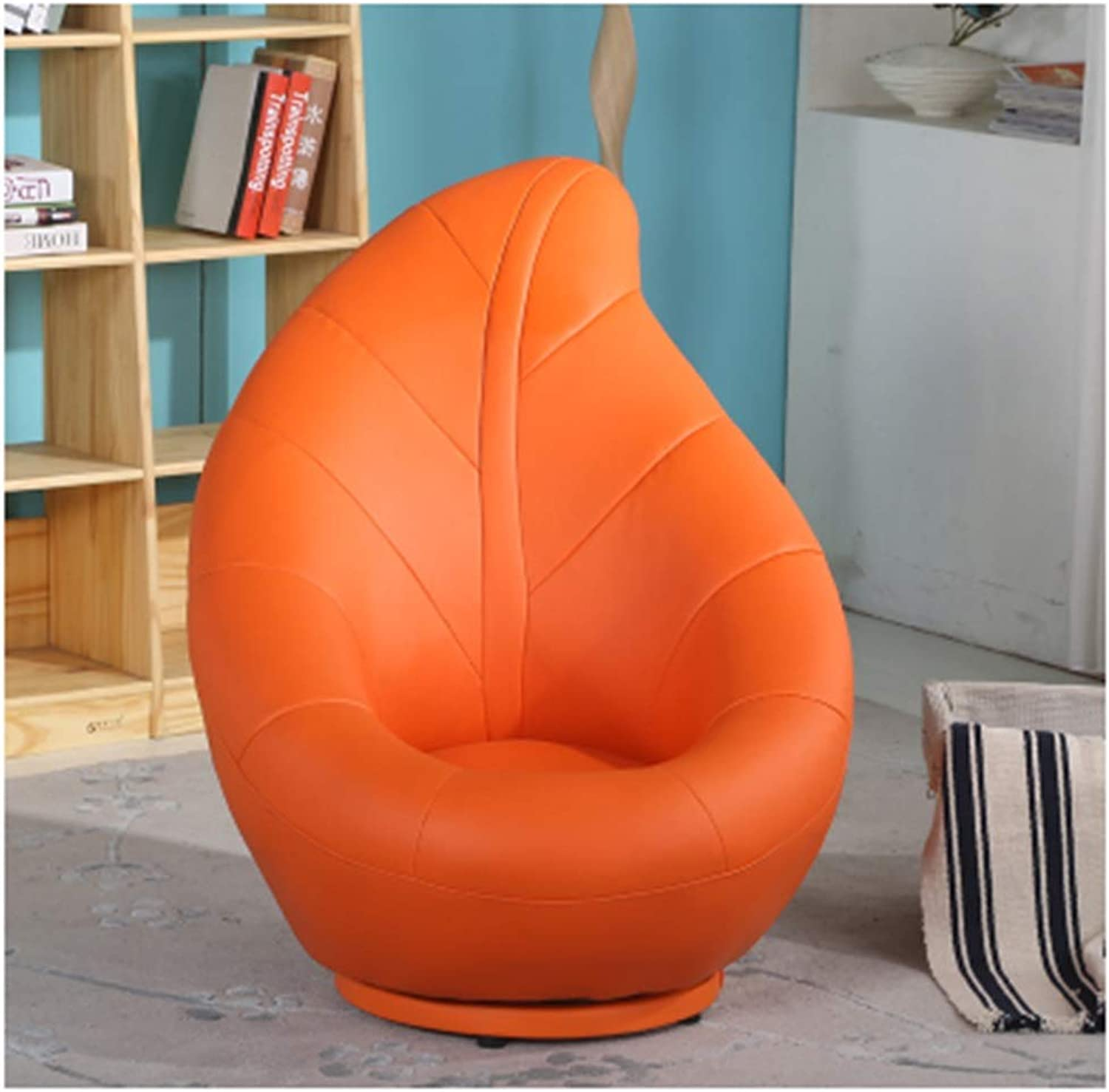 SCM redating Lazy Couch Casual Comfort Bedroom Creative Fashion Leaf Shape Chair Multicolor Large 78×94cm (color   orange)