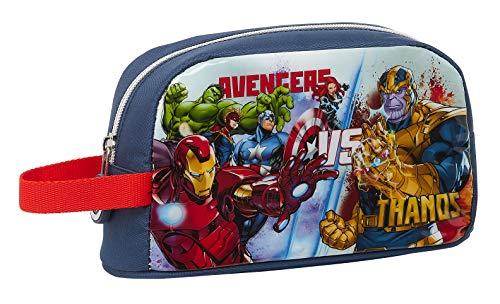 safta Porta Desayunos Termo Térmica de Avengers Heroes Vs Thanos, 215x65x120mm, azul marino/multicolor