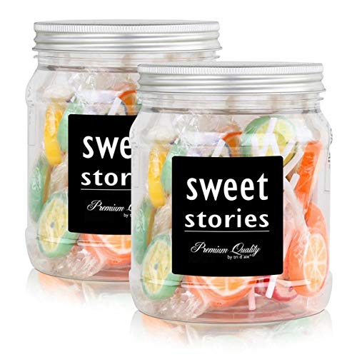 Sweet Stories Rocks Lollies Bunter Mix in einer Retrodose 300g (2er Pack)