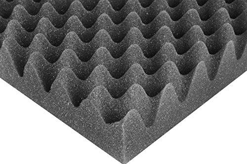 SCHAUMEX ® Noppenschaumstoff 50x30x5cm - Akustik Schaumstoff, Akustikschaumstoff, Dämmung für Tonstudio, Youtube room, In Deutschland hergestellt - 2