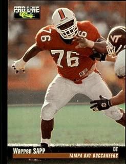1995 Pro Line Football Rookie Card #105 Warren Sapp