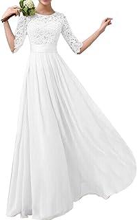 Eiffel Women`s Lace Splice Chiffon Floor-Length Cocktail Formal Dress Bride Bridesmaid Wedding Dresses
