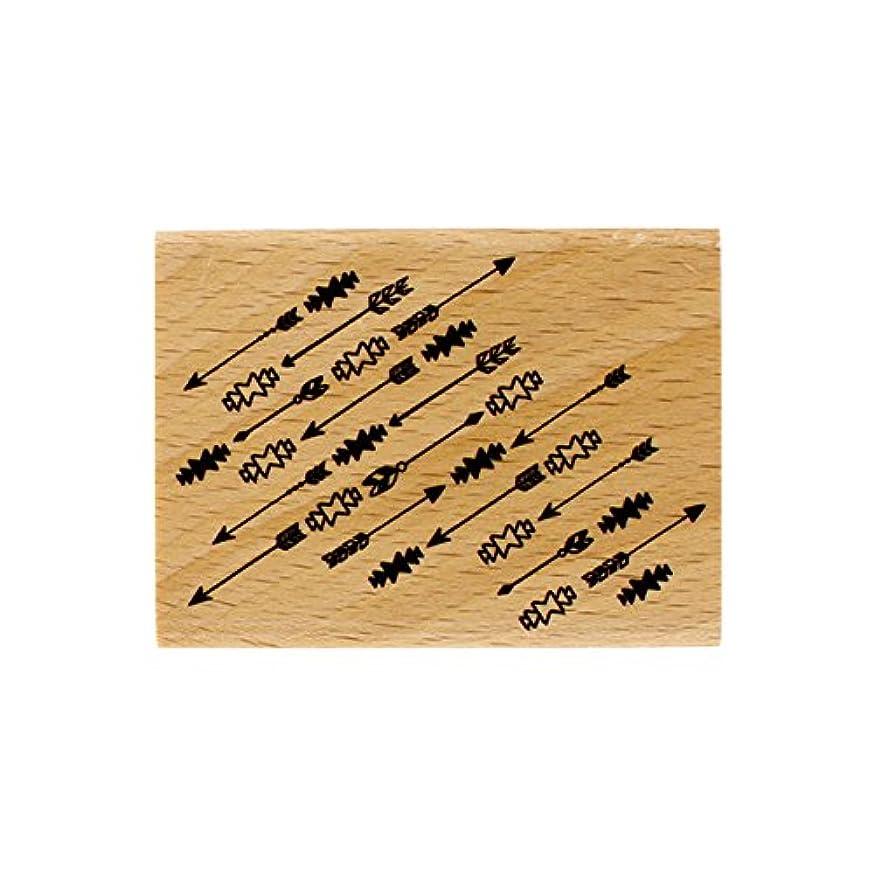 Florilèges Design Stamp fe216021?Fine Arrows Wood 6?x 8?x 2.5?cm