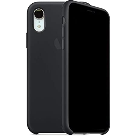 Kongwoo Silicone Case (Rubber Hard Cover) Compatible with iPhone XR (Black)